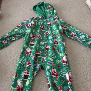 Two Sets of Hooded Fleece Pajamas